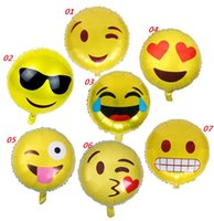 Wholesale NEW Expression Balloons Emoji Foil Balloon Happy Birthday Party Emoticons Helium Ballon Wedding Decor Inflatable Balls