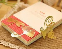 Wholesale NEW Wedding Gold bookmark feather metal paragraph Creative Bookmarks styles
