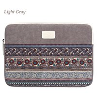 Wholesale colorful handbags canvas laptop bag for inch computer Ethnic style Vertical Transverse protection cover bags