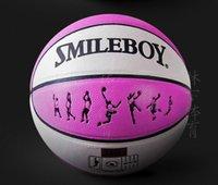 balls racing - High quality women s basketball on the th race training ball basketball basketball fancy pink absorbent SMILE BOY basketball