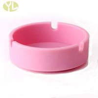 Wholesale pocket silicone ashtray blue new soft pink ash tray creative bear food grade home gadgets shatterproof silica gel ash tray