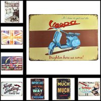Wholesale Vintage Tin Plate Signs Home Wall Decor House Cafe Shop Painting X30cm X11 in