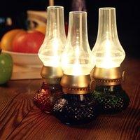 adjustable candle vintage - Retro Vintage Kerosene Blow LED Candle Lamp USB Bedroom Adjustable Night Light Energy saving