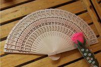 Wholesale New Wooden Hand Fans Portable Lady Wedding Handmade Folding Fans Cheap Free Ship Fans Parasols
