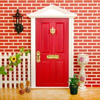 Wholesale 2016 pc doll fairy doors factory cute girls fairy doors children minature doors kids kindergraden photograph red door