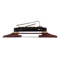 archtop guitar bridge - Archtop JAZZ Guitar Tailpiece Bridge w black Roller Saddles