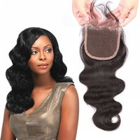 Wholesale 4 inch lace frontal closure Body Wave human hair extensions front lace closure Unprocessed human Hair closure natural human hair