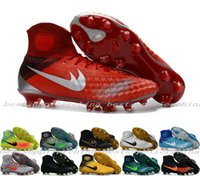 Wholesale New Mens Mercurial Superfly CR7 FG Soccer Cleats Magista Obra Soccer Shoes Outdoor Magista Obra II FG Volt Hypervenom Football Boots