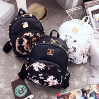 Wholesale Butterfly Flower Floral female fashion handbag shoulder backpack backpack small female bag new Korean women Backpack