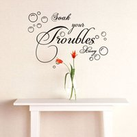 bathroom wall sayings - Soak Your Troubles Bubbles Wall Stickers Quotable Saying Wall Decals Mural Art Bedroom Living Room Home Decor WS289