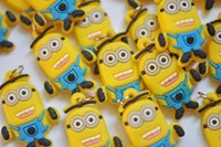 Wholesale Minion Mini Rubber band Loom charm braclet charms Minion loom charms gifts factory price free ship