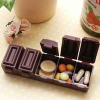 chocolate good quality portable adult vitamins - New Plastic Japan ultra realistic Cases Grids Pill Container Jewelry Storage Organizer Chocolate Candy Vitamin Medicine Box for Kids Adult