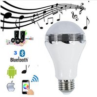 led rgb remote bulb 5w - Wireless W E27 Bluetooth Remote Control Smart LED Audio Speaker RGB Color Light Bulb Music Lamp Home Indoor lighting APP remote control