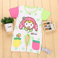 autumn tourism - Children s clothing One Piece Suit Animal Cartoon Short Sleeved Cotton Clothes Summer Leisure Tourism Jumpsuit