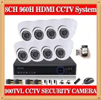 al por mayor domo dvr kit-Sistema de seguridad CCTV 8CH CIA- 960H DVR 900TVL kit de la cámara interior de la bóveda del sistema de vigilancia de vídeo de PC apoyo iphone móvil Vista cms