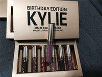 best set cosmetic kit - Best Seller New Hot Kylie Jenner Birthday Edition Lip Kit Gloss Set Cosmetics Matte Liquid Lipstick Color Make up