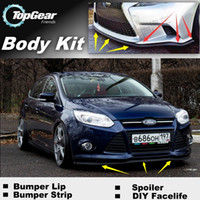 Wholesale Bumper Lip Lips For Ford For Focus ST Front Skirt Deflector Spoiler For Car Tuning The Stig Recommend Body Kit Strip