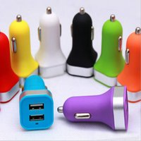 auto song - Colorful Universal Dual USB Port Car Charger Cigarette A Auto Power Adapter For iPhone S C iPad Samsung LG Huawei Nokia Song