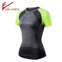 Wholesale 2016new arrival running tops for women yoga sports wear