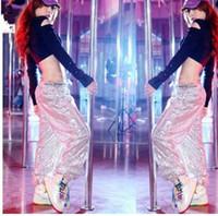 Wholesale Fashion women and men loose DS Nightclub Sequins jazz big drop crotch sweatpants hip hop dance harem hiphop pants