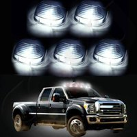 Wholesale 5pcs Smoke Roof Running Lights Cab Marker Cover Free Xenon White T10 LED Bulbs US yy137