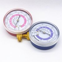 air coolant - One Pair A C R134A R22 Air Conditioner Refrigerant Low amp High Pressure Gauge PSI KPA Refrigeration Pressure Gauge Coolant