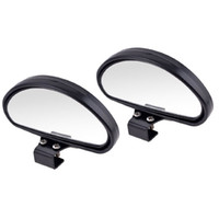 acura side mirror - 2pcs Universal Car Flat Blind Spot Rear Side Wide Angle View Mirror Vehicle Suv Truck Black