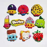 shoe charms - Novelty Shopkind PVC Shoe Charms Cartoon Shoe Decoration Shoe Buckles Accessories Fit Bands Bracelets Croc JIBZ Kids Party Gifts Toy