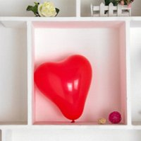 Wholesale 100 pieces g quot heart shaped latex bead light red balloon wedding supplies inflatable balloon