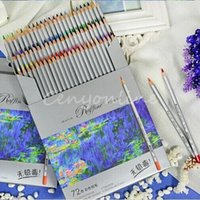 Wholesale 2016 New High Quality Color Fine Art Drawing Oil Base Non toxic Colored Pencils Set For Artist Sketch Shipping