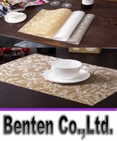 Wholesale cm Rectangular grid PVC insulation placemats Western pad dining table mat Easy clean placemat LLFA8896
