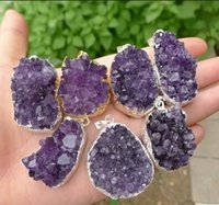amethyst price - Hot Sale The original rock of natural amethyst pendant Amethyst cluster pendant energy superpower mm mm price
