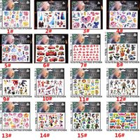 Wholesale Temporary Tattoos Stickers Cartoon Temporary Tattoos Sticker cmx10 cm Body Art Tattoo Kits For Children Kids WX S04