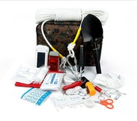 Wholesale hot Auto accessories car first aid kit set rescue package safety driving emergency kit sets