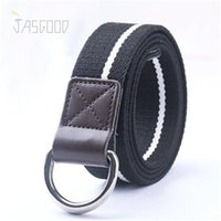 belt d rings - Nylon Woven Mens Belts Plain Webbing Straps High Fashion Male Waist Belts Practical Waist Belts D ring Buckle Jeans Belts for Men