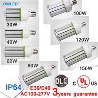 Wholesale UL DLC Listed E26 E39 LED Light Design Corn Bulb w w w w w w w Outdoor High Luminous Output lm Watt