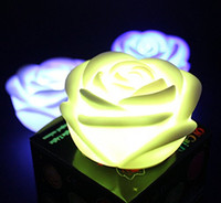 Wholesale KEEPING Romantic Red LED Rose Flower Night Lights Color Changing Flameless Candles for Wedding Party Christmas Decoration
