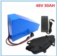Wholesale High capacity v motor lithium battery W V AH triangle battery with bag use samsung mah cell with A charger