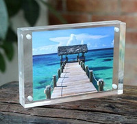acrylic photo magnets - 3 inches x56mm acrylic plexiglass magnet photo frame european creative Have many different size inventory and can customize any size