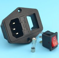 ac power socket fuse - with A fuse power socket with Rocker Switch A V ac socket Terminal Power Socket with Fuse Holder Connector