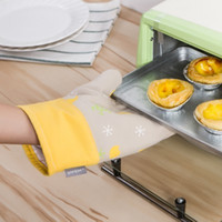 Wholesale Cotton Oven Gloves Heat Resistant Microwave Oven Heat Insulation Gloves Bakeware Baking Pastry Tools