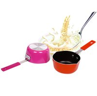 aluminum melting pot - Milk pan mini cm Aluminum milk soup breakfast pot Non stick chocolate melting pot cooking tool Q