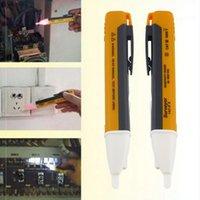 Wholesale Electric Socket Wall AC Power Outlet Voltage Detector Sensor Tester Pen LED Light Voltage Alert Pen indicator V