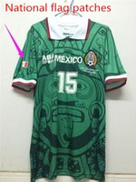 Wholesale With National flag patches world cup MEXICO Blanco11 Hernandez15 Pelaez9 Ramirez7 Jerseys retro Jerseys