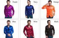 Cheap New Arrival Custom Any Color Silk Like Satin Elastic Men Wear Shirts Groom Groom Wedding Slik Shirt For Men