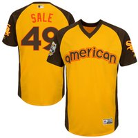 bat baseball bats - Mens Chicago White Sox Chris Sale Majestic Yellow Baseball All Star Game Cool Base Batting Practice Player Jersey