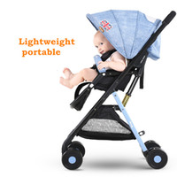 baby viewing - 4 kg Super Light Baby Stroller Portable Pram Baby By Carry on Plane High view Folding Pushchair Sit Lie Down