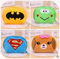 baby card designs - 600pcs CCA4316 High Quality Multi design Batman Plush Baby Girls Coin Purses Hasp Coin Bag Kids Coin Wallets Change Purse Cartoon Coin Bag