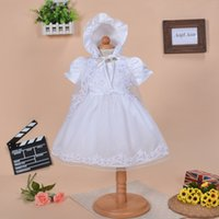 baby tea sets - 2017 Newborn Baby First Communion Dress set Infant Girl s White Princess Lace Baptism Dress Toddler Baby Girl Satin Lace Dresses MC0292