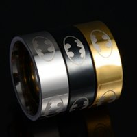 batman gold ring - New Arrival l Stainless Steel Batman Rings Titanium Steel Rings For Women and Men